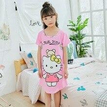 Ночные рубашки для девочек с короткими рукавами платье принцессы Летняя одежда для детей с героями мультфильмов; платье для детей милый nightdress1