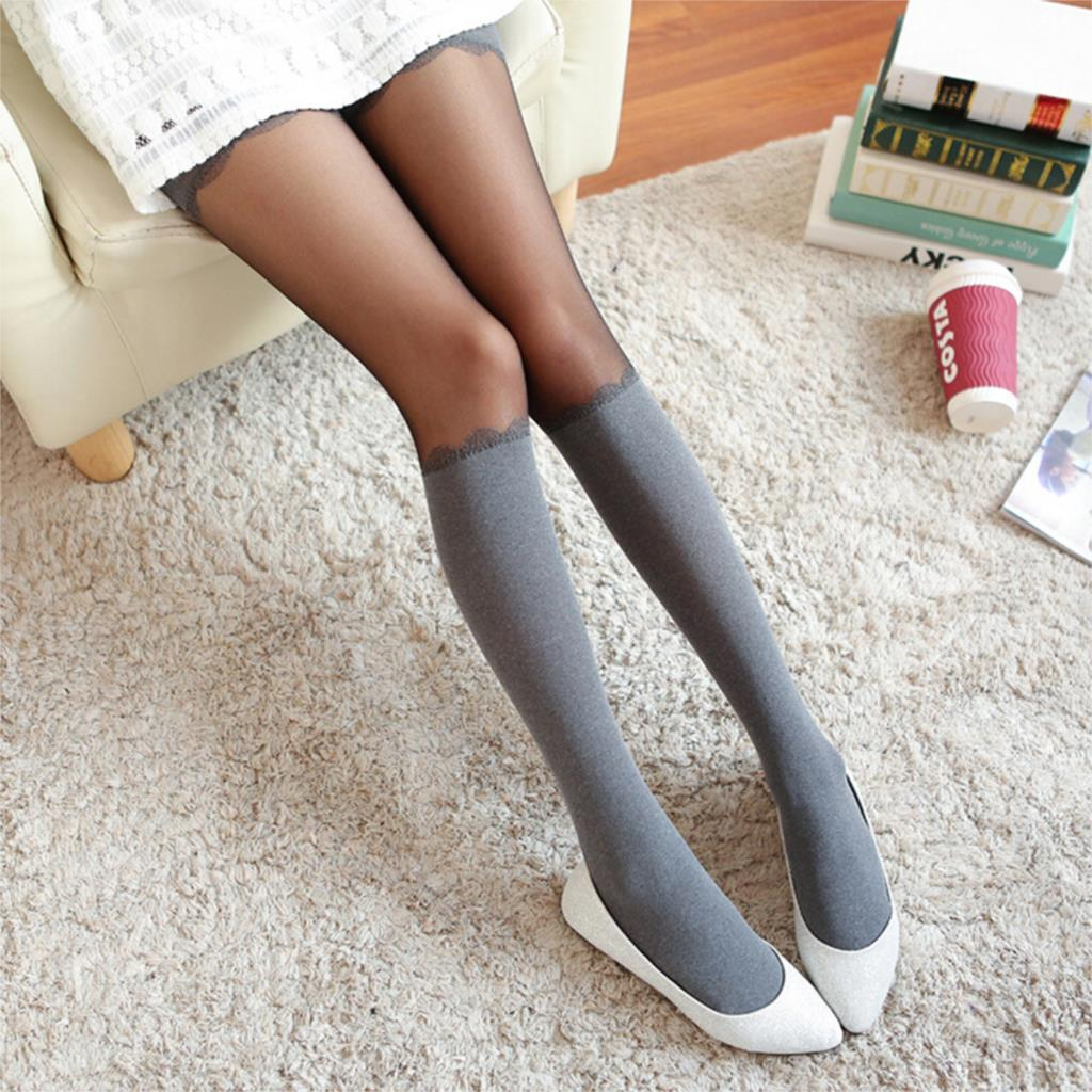 LIEBE ENGEL Hot Sexy Tights Brand Women Chiffon Transparent Spring Autumn High Stocking Pantyhose for Lady Girls 2017