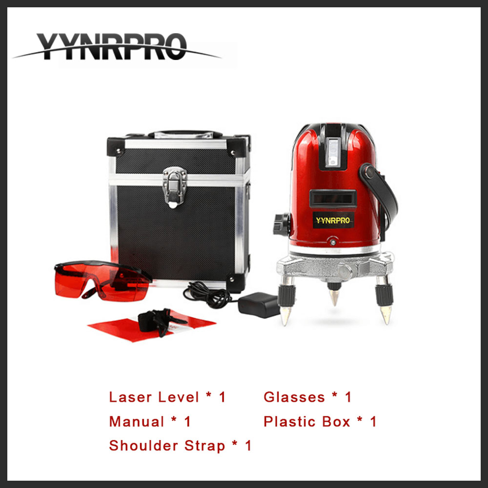 YYNRPRO 5 Lines 6 Points Laser Level 360 Vertical & Horizontal Rotary Cross Laser Line Leveling Outdoor reciver acceptable купить