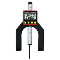 1 pces 0 80mm digital medidor de altura magnético pés eletrônico caliper profundidade gage para roteador tabelas woodworking instrumento de medição Medidores     -
