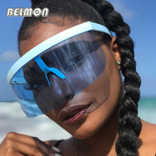 BELMON Fashiond Sunglasses Women Ovesized Luxury Brand Designer Mask Goggles Sun Glasses For Female Big Frame Oculos de RS714