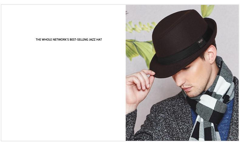 vintage fedora hat black fedora hats for men wool felt hat mens hats fedoras mens fedora hats winter vintage hat jazz hat (2)