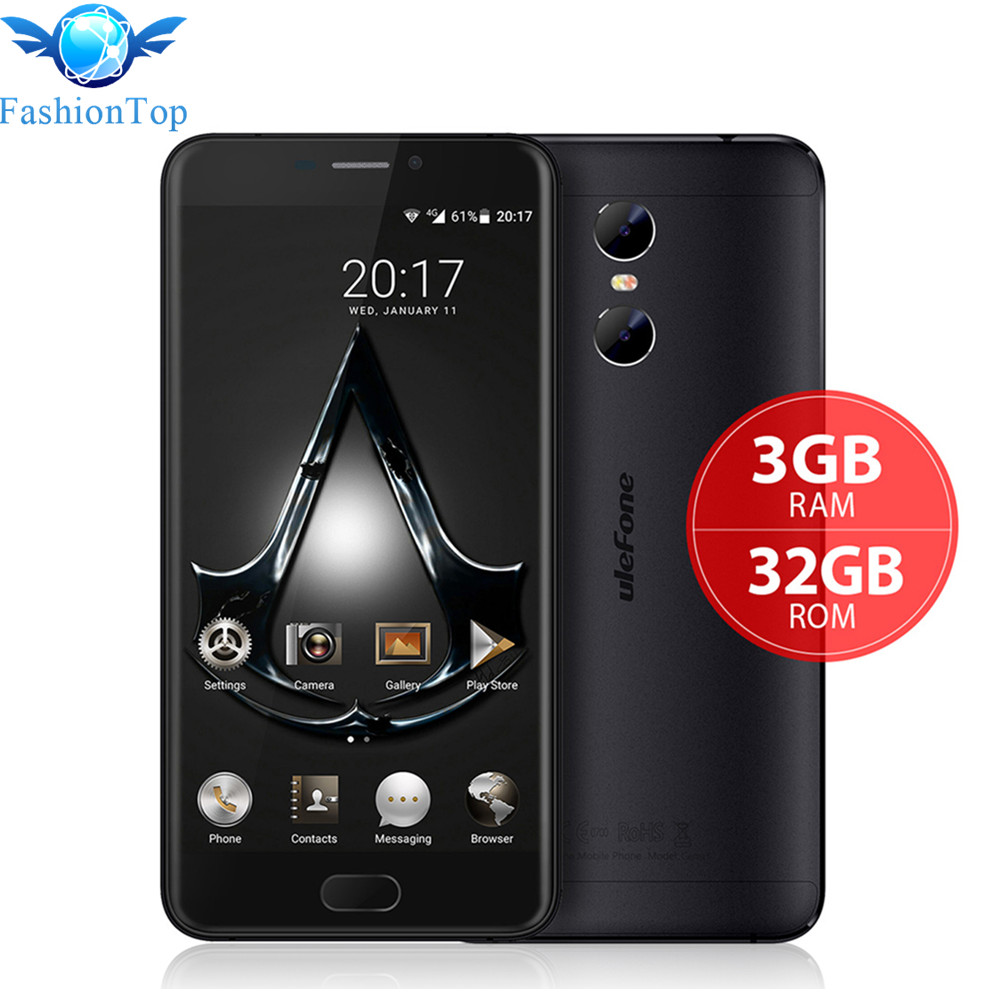 Ulefone Gemini 5.5'' Android 6.0 Smartphone MT6737 Quad Core Mobile Phone 3GB RAM 32GB ROM 4G LTE Dual Back Camera GPS Cellphone