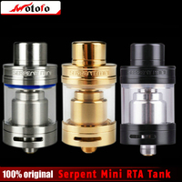 100 Original Wotofo Serpent Mini RTA Tank Single Coil Build Deck Dual Adjustable Airflow 3ml Capacity