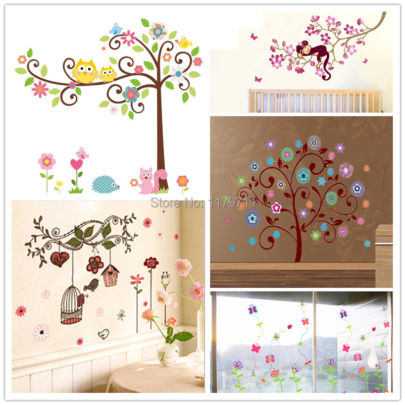pk bazaar baby art trees flowers wall sticker child role of