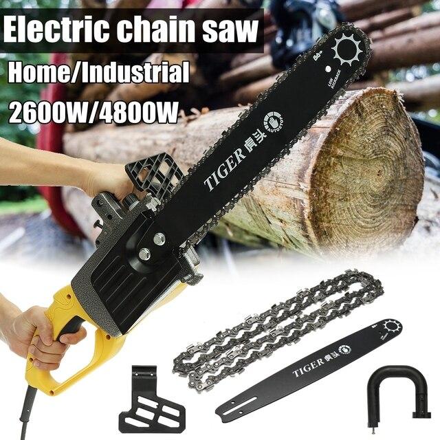 220V 2600w/4800w  Home/Industrial Electric Chain Saw Wood Saw Chainsaw 1200r/min Woodworking Chainsaw 2