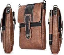 Holster Man Shoulder Belt Clip Mobile Phone Leather Case For Doogee X5 MAX Pro/T5S/Shoot 1/Dagger DG550/BL5000/X30L/X9 Pro