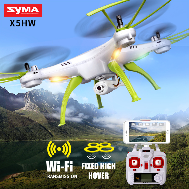 SYMA X5HW RC Quadrocopter Drone With Camera Wifi FPV HD Real-time Transmit RC Helicopter Quadcopter Dron Drones Toy Hover syma x8w fpv rc quadcopter drone with wifi camera 2 4g 6axis dron syma x8c 2mp camera rtf rc helicopter with 2 battery vs x101