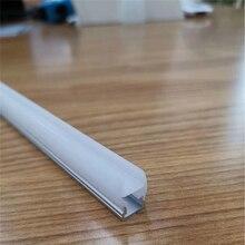 5-30 шт./лот 40 дюймов 8 мм толстое стекло кусачки освещение светодиодный алюминиевый профиль, 10 мм полоса линейный канал для освещения стекла