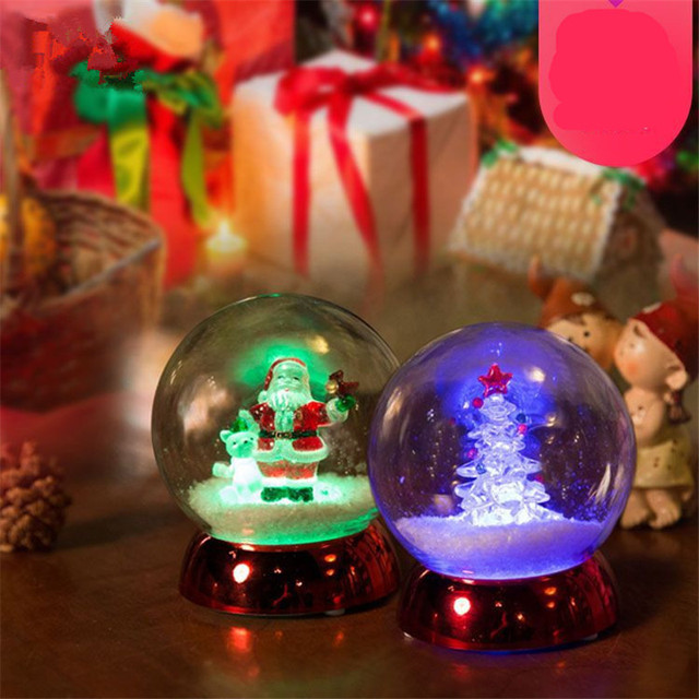 christmas decoration led glowing round ball christmas supplies christmas santa clause christmas tree toy xmas ornament - Christmas Decorations Led Ornaments