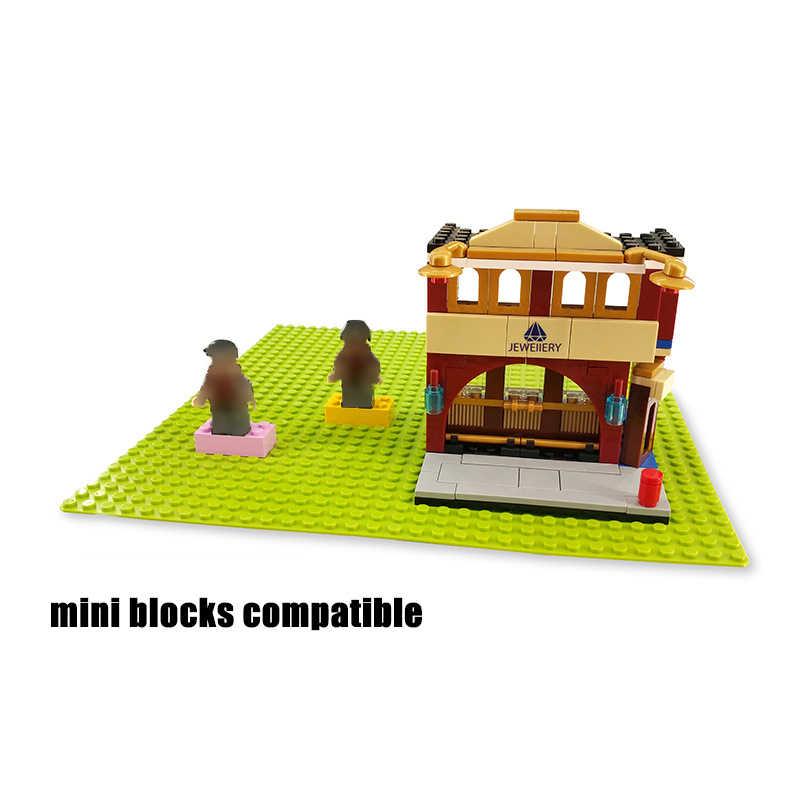 32*32 puntos placa Base de la ciudad para pequeños ladrillos placa Base tablero DIY bloques de construcción juegos juguetes para niños Compatible legoingly