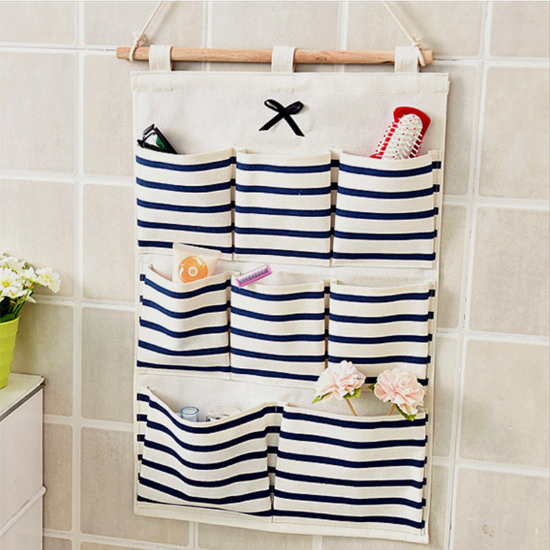 Storage-Containers Closet Organizer Folding-Bag Sorting Cosmetics Groceries-Storage Wall
