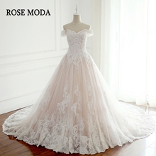 Rose Moda Off Shoulder Wedding Dresses Ball Gown