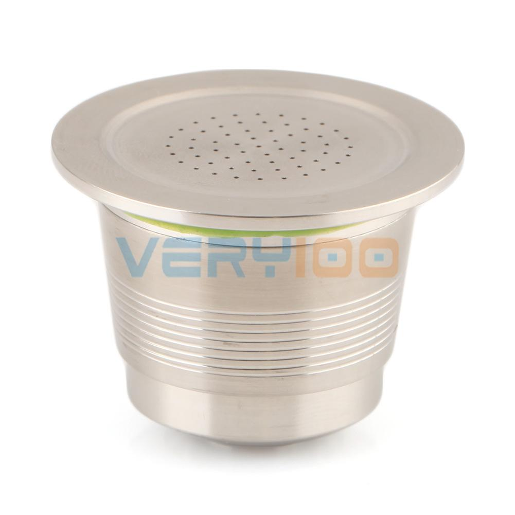 NEW Stainless Steel Compatible For Nespresso Machine Refillable Reusable Capsule Free Shipping!