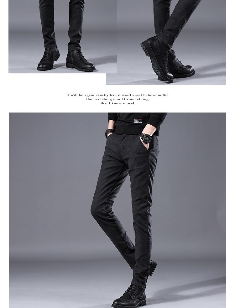 HTB1ZjWRLwHqK1RjSZFgq6y7JXXaT Men's Business Casual Pants Trend Designer Korean Style Slim Male Trousers Classic Plaid High Quality Straight Stretch Pants Men
