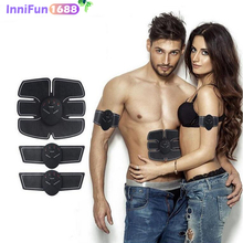 Man And Women ins Intelligent Abdominal Muscle Training Massage Set for Stimulation. slimming massager