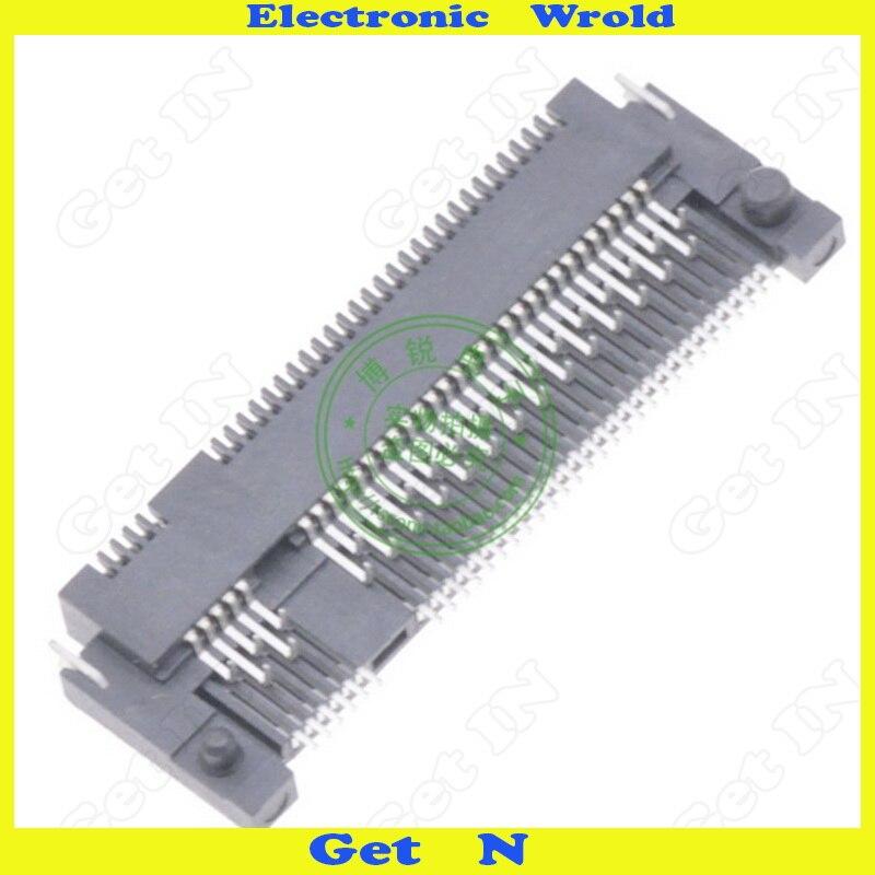 Image 4 - 5 шт. NGFF интерфейс разъем ключ B Shen пластина Тип M.2 розетки Высота 1,5 мм 67Pin с передней вилкой и задней SMD-in Соединители from Товары для дома