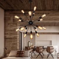 Retro sputnik chandelier for Restaurant Bar Inteior house decor suspended luminaire E27 Edison Bulb Loft kevin reilly lighting