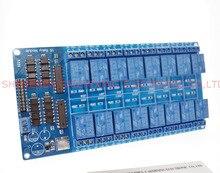 2015 Китай Оптовая 5 В 16 Канальный Релейный Модуль для arduino ARM PIC AVR DSP Электронный Реле Пластина Ремня optocoupler изоляции