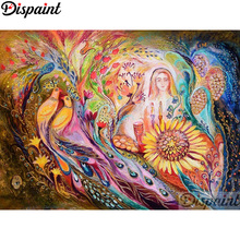 Dispaint Full Square/Round Drill 5D DIY Diamond Painting Phoenix woman Embroidery Cross Stitch 3D Home Decor A12719