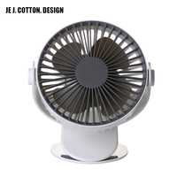 Mini USB Desktop Clip Fan Portable Rechargeable 4W 2000 mAh Battery Operated 360 Rotation Cooling Quiet Fans for Office Bedroom