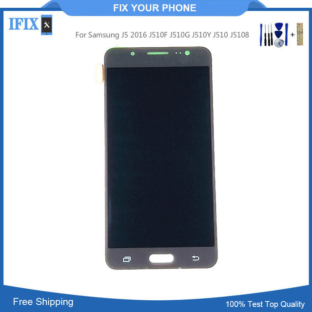 US $15 6  Can Not Adjust Brightness For Samsung J5 2016 J510F J510G J510Y  J510 J5108 Lcd Display Touch Screen Digitizer With Tools-in Mobile Phone
