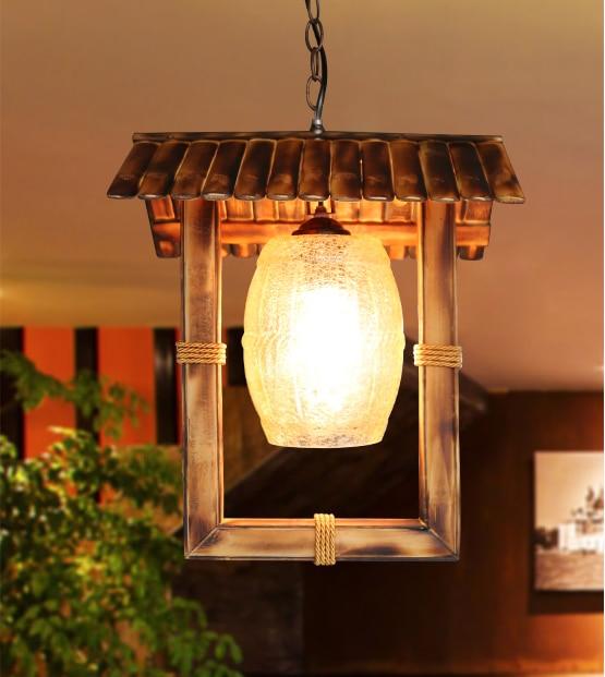 GroBartig Perfekt Amerikanischen Ländlichen Handgefertigten Bambus Kronleuchter  Südostasien Stil Archaistic Knistern Glas E27 Led Lampe Für Studio