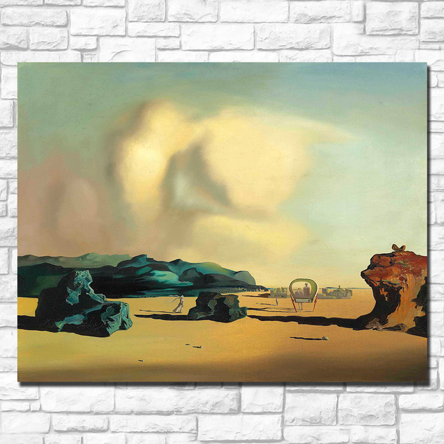Wall art Salvador Dali transition moment Painting Living Room Home Decoration Oil Painting on Canvas Wall Painting 2