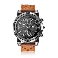 V6นาฬิกาแฟชั่นแบรนด์บุรุษนาฬิกาหนังสายนาฬิกาข้อมือแฟชั่นrelógio masculinoกีฬานาฬิกาผู้ชายนาฬิกาคว...