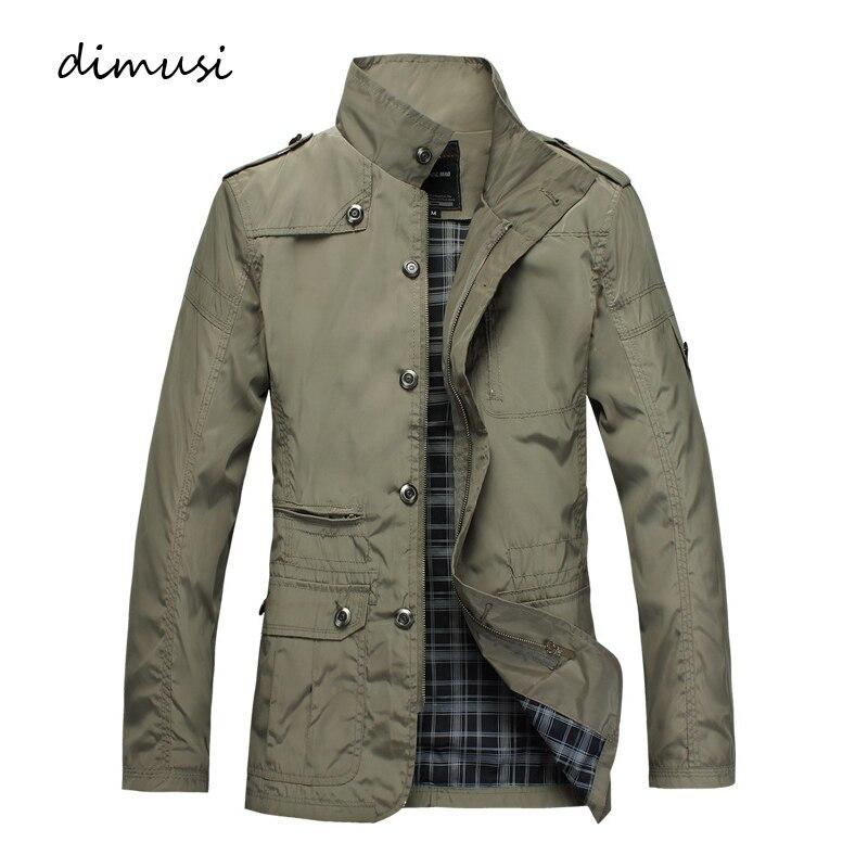 DIMUSI Mens Jackets Fashion Mens Anorak Hip Hop Streetwear Jackets Man Casual Slim Thin Windbreaker Overcoats Men Trench Coats