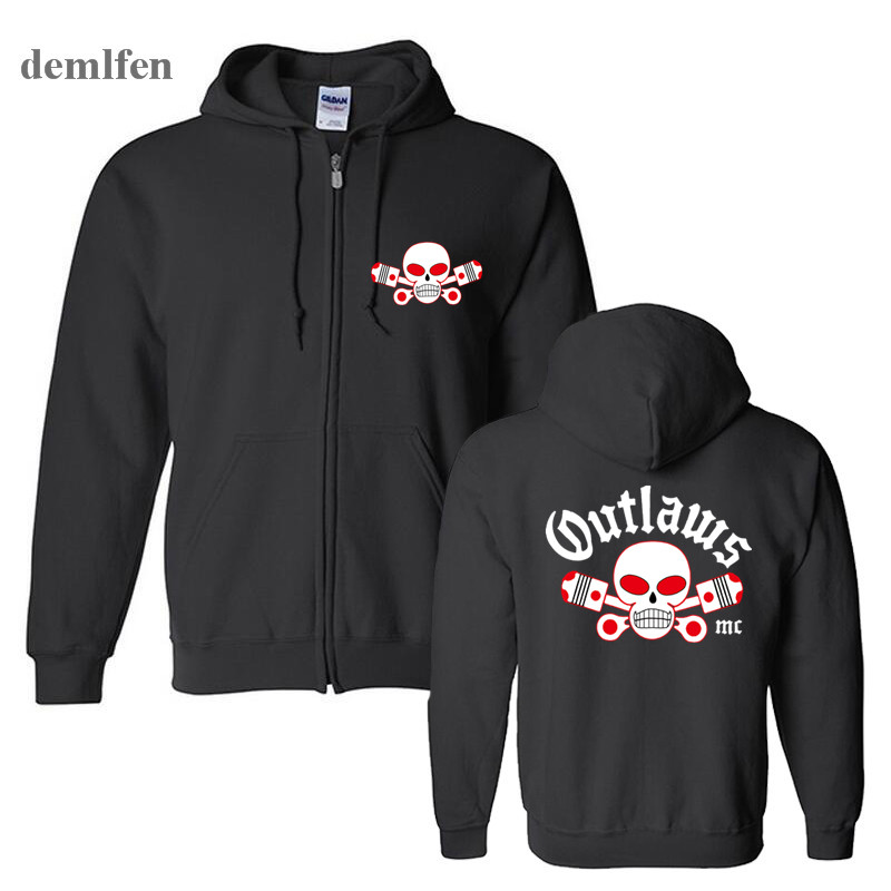 US $21 18 42% OFF|Fashion Outlaws MC Men hoodie Support Outlaws Cotton  Sweatshirt Hip Hop Men Jacket Coat Hooded-in Hoodies & Sweatshirts from  Men's