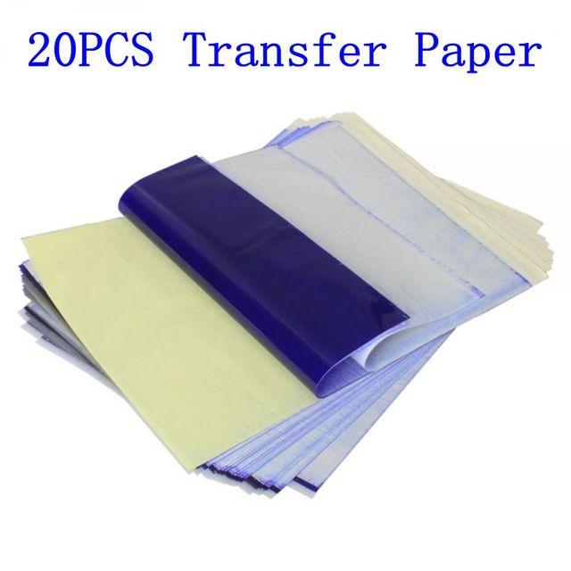 Super sconto come scegliere catturare US $7.69 26% di SCONTO|20 pz tattoo stencil carta di trasferimento a4  formato carta per fotocopiatrici termica forniture accessori del tatuaggio  per ...
