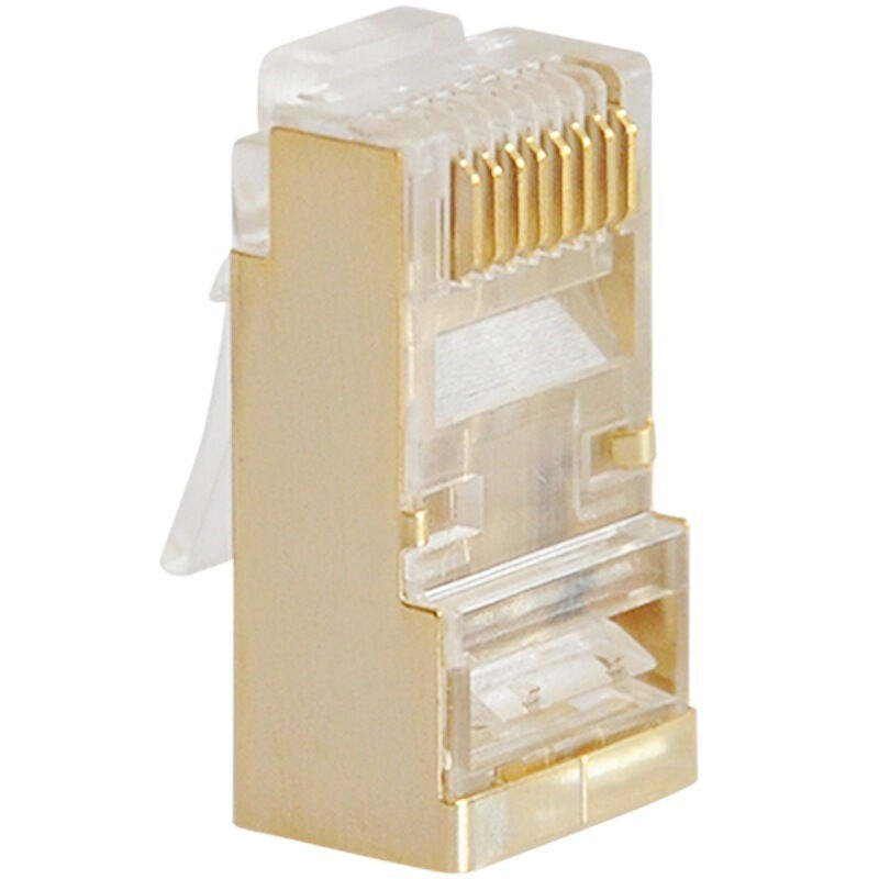 SAMZHE RJ45 Connector Cat5e RJ45 Gigabit Ethernet Double-Shielded Gold-Plated Copper Shell Network Connectors 8p8c Network cable
