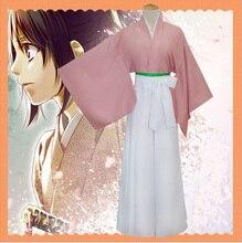 Mujeres Niñas Cosplay Kimono Japonés Set Traje Anime Hakuouki Shinsengumi Yukimura Chizuru (Top + Pantalones Largos + cinturón)