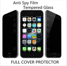 for iphone 4/4s/5/5S/5c/6/6 Plus /7/7PLUS 0.3mm 9H Privacy Film+Tempered Glass Anti Spying Screen Protector Anti-shatter