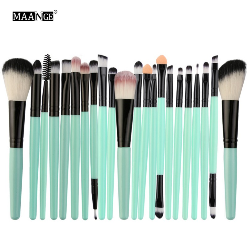 MAANGE 22Pcs Makeup Brushes Set Professional Eyebrow Eye Shadow Eyeliner Lip Blusher Foundation Powder Cosmetic H8