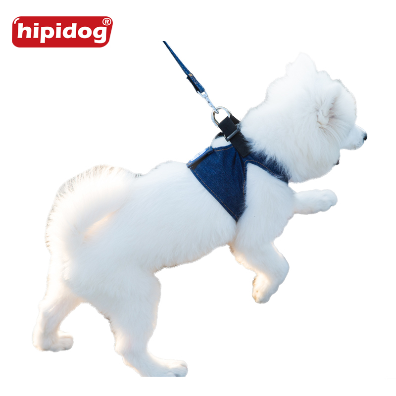 Hipidog Dog Puppy Jean Vest Harness Lucky Cowboy Leash Lead Set For Small Dogs Cats Pet S/M/L/XL Leash Harness Pet Supplies