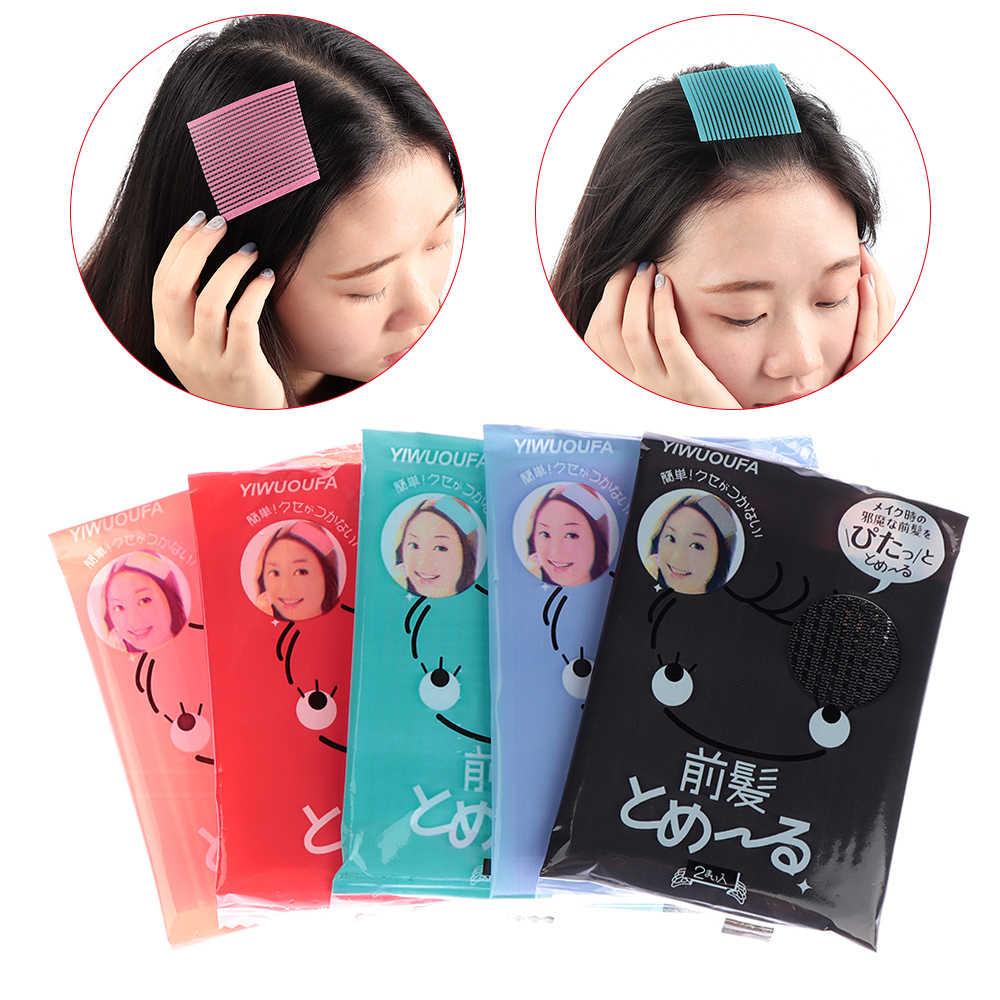 1 Pack/2 PCS שיער מדבקת קליפ פוני קבוע חלקה הודעות רסק קלטת פרינג 'שיער מפץ תיקון סלון סטיילינג כלים