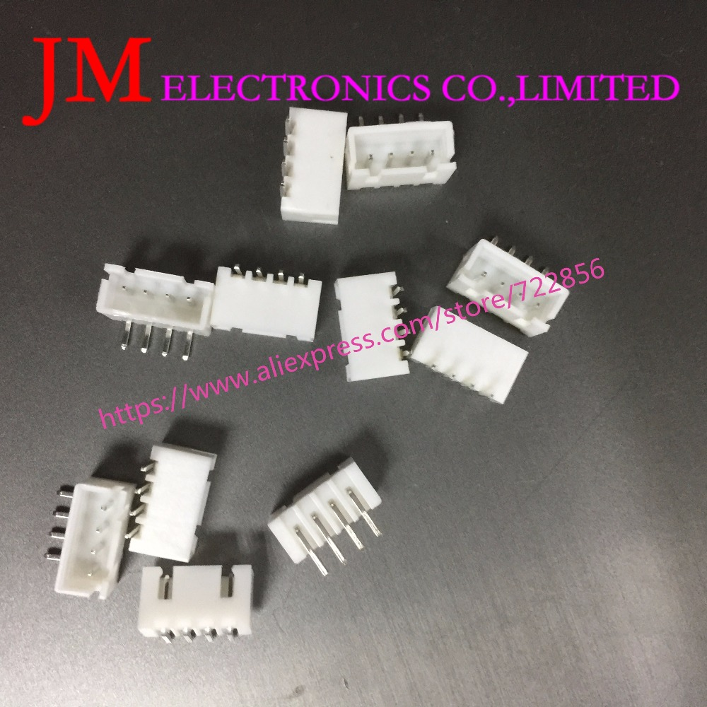 100Pcs 2.54Mm Spacing series Right Angle Bend the foot Jst Xh Connector Pin Header White ROHS 2 3 4 5 6 7 8 9 10 pin
