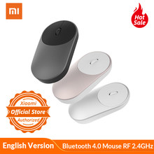 Asli Xiaomi Portabel Mouse Optik Nirkabel Bluetooth 4.0 Mouse RF 2.4G Hz Dual Mode untuk Laptop PC Gaming Mouse 1200 dpi Gamer(China)