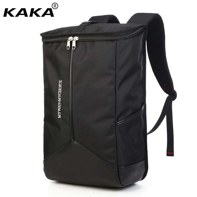 2017 KAKA Brand Black Minimalist Shoulder Bags Men Leisure Travel Large Backpack Laptop Women Bucket Backpack for 16 Computer burgess melvin burning issy