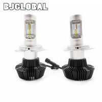 BJGLOBAL 2 X High Power H4 K6 LED Headlight Bulbs Driving Lights 9003 HB2 8000LM 6000K
