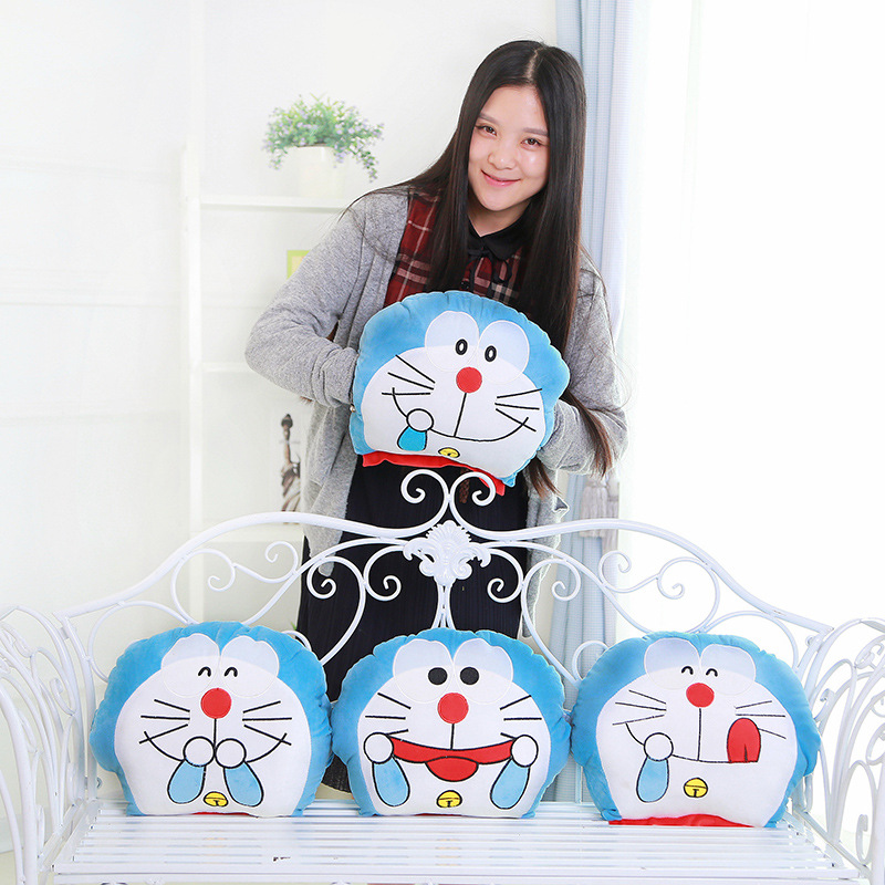 40CM 2016 New Year's Soft Pillow Gift Hand Warmers Plush Toy Cat Doraemon Cute Pillows Boys&Girls Birthday Gifts image