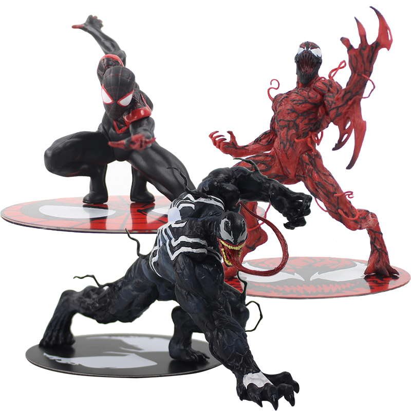 11-15 cm Avengers Super Hero Spiderman Miles Morales Venom Carnage ARTFX STATUA 1/10 Bilancia Pre-Verniciato PVC figura Modello di Bambola Giocattolo