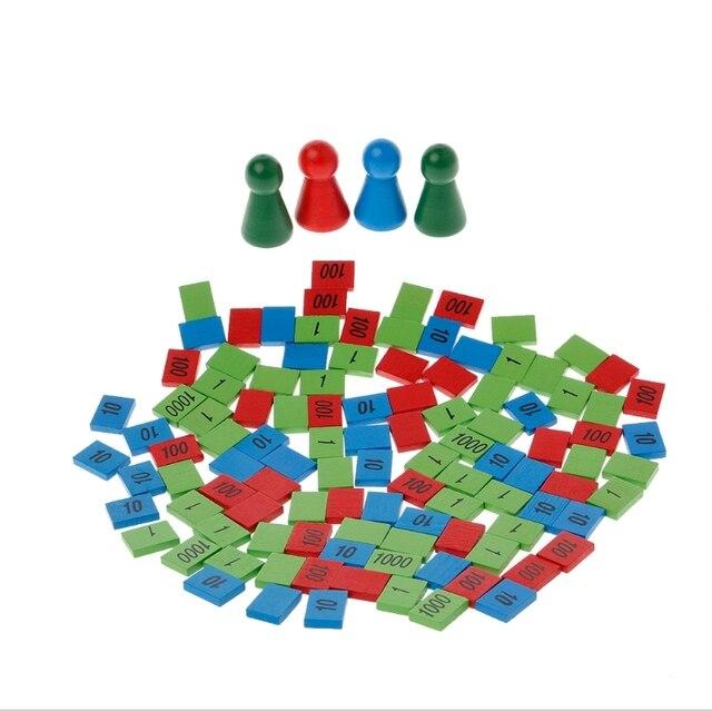 Montessori timbres en bois jeu maths jouets enfant jouets d'enseignement précoce cadeau 328 Promotion % 312