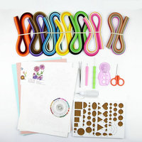 Paper Craft Material Package Quilling Paper Set Color Paper Drawing Material Package Beginners Learning Tool