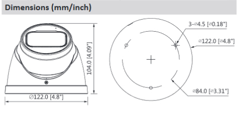Caméra Dahua 8mp POE IP | 2.7mm ~ 12mm, objectif motorisé, micro intégré Max. IR longueur led 50m H.265, caméra de sécurité