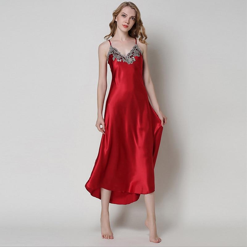 Aliexpresscom  Buy Ladies Sexy Silk Satin Nightgown -3948
