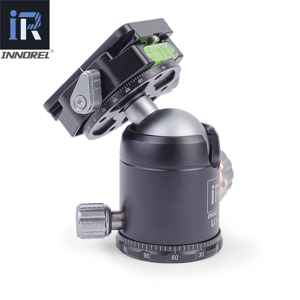 Image 2 - INNOREL U36 panoramic tripod & monopod ball head with quick release plate for 720 degree shooting bearing 20KG for Nikon Canon-in Tripod Heads from Consumer Electronics