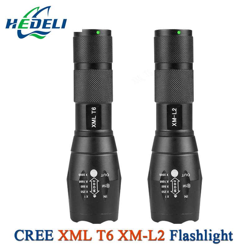 most powerful zoom L2 flashlight CREE XML T6 flashlight mini Portable backpack torch 18650 or AAA waterproof hunting lantern
